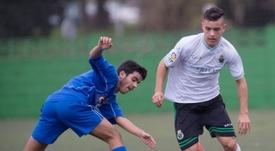 Paulino Miguélez (d) jugará en el filial del Girona este curso. GironaFC