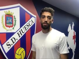 Josue Sá veut grandir avec Huesca. Twitter/SDHuesca