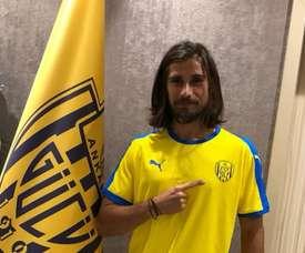 Tiago Pinto seguirá al menos un año más en Turquía. Twitter/Ankaragucu