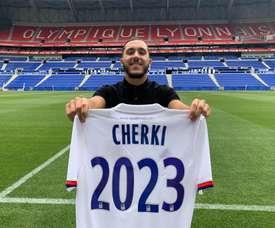 Cherki renewed his Lyon contract until 2023. Twitter/OL