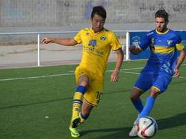 El futbolista surcoreano del Alcorcón Eonhak Ji. ADAlcorcón
