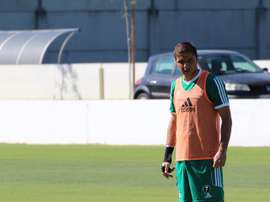 Joaquín tiene muy difícil llegar en condiciones al partido ante el Sevilla. RealBetisBalompie