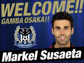 Susaeta signe au Gamba Osaka.  GambaOsaka