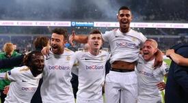 El Genk, campeón de la Liga Belga 2018-19. RBFA