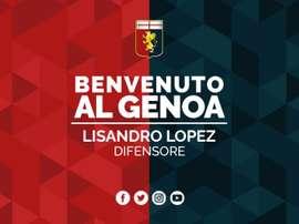 El argentino vuelve a abandonar el Benfica a préstamo. GenoaCFC