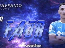 Le Getafe souhaite la bienvenue à Fayçal Fajr. Twitter/GetafeCF