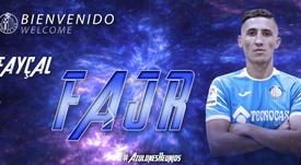 El Getafe le dio la bienvenida a Fayçal Fajr. Twitter/GetafeCF