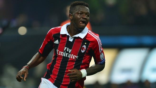 El ghanés Sulley Ali Muntari, en un partido con el Milan. Uefa