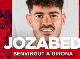 Jozabed rejoint Gérone. Twitter/GironaFC