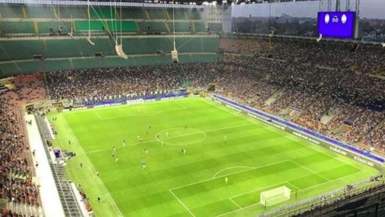 san siro not even half full for atalanta match besoccer even half full for atalanta match
