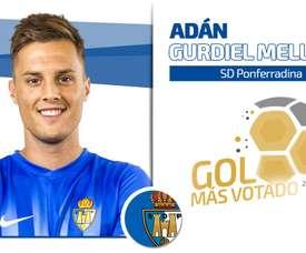 El gol de Adán ganó las votaciones. RFEF