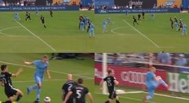 Le but de New York City à 'l'ADN Barça'. Captures/MLS