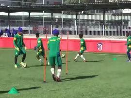 El Golden Arrows, entrenando en la Ciudad Deportiva del Atlético. Twitter/GoldenArrows