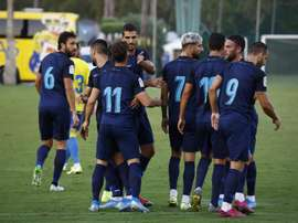 El Granada se hizo con la victoria en el duelo ante Las Palmas. Twitter/GranadaCdeF