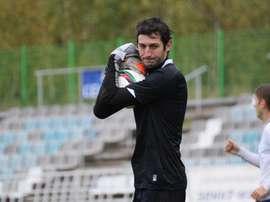 El guardameta del Dinamo de Kirov, Borís Shoguenov. FCDinamoKirov