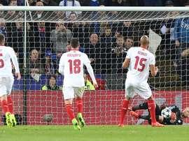 El Sevilla se quedó a las puertas de los cuartos de final. EFE