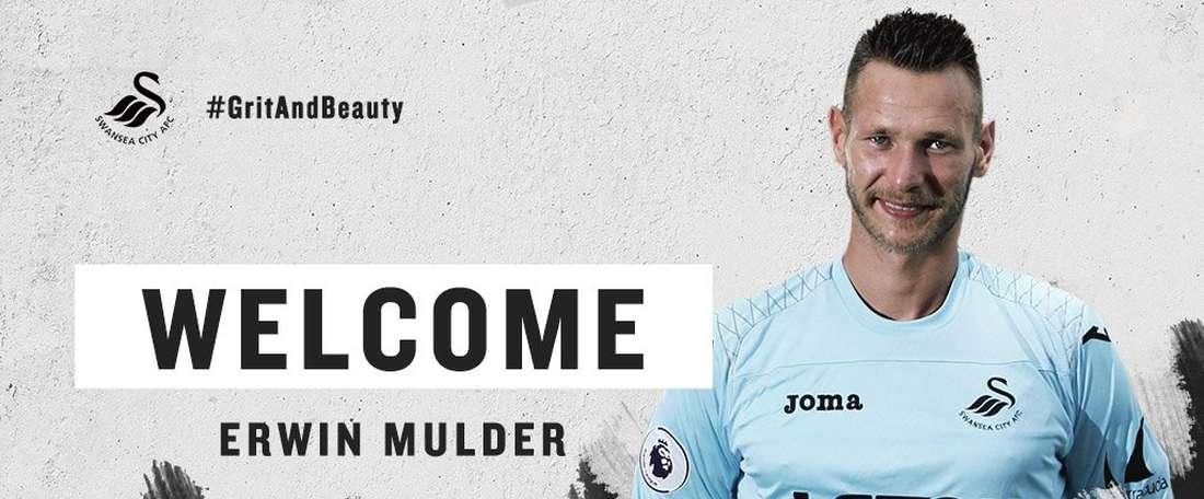 Erwin Mulder, nuevo jugador del Swansea. SwanseaCityAFC