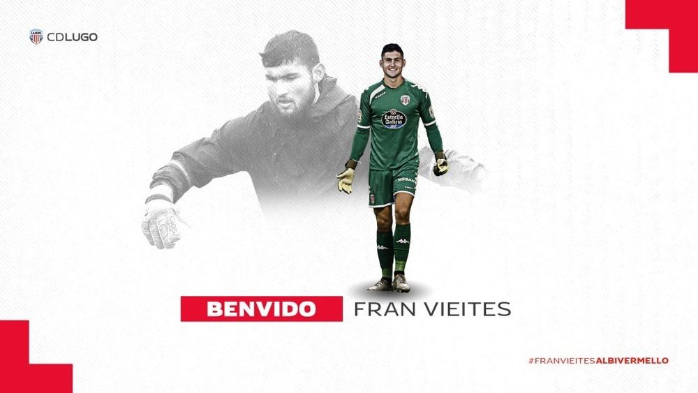 Vieites ha firmado un contrato de cuatro temporadas. CDLugo