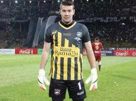 El guardameta Guido Herrera, del Belgrano. Twitter