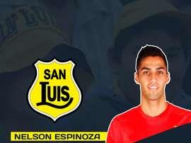 Nelson Espinoza, presentado por San Luis de Quillota como su nuevo jugador. SanLuisdeQuillota