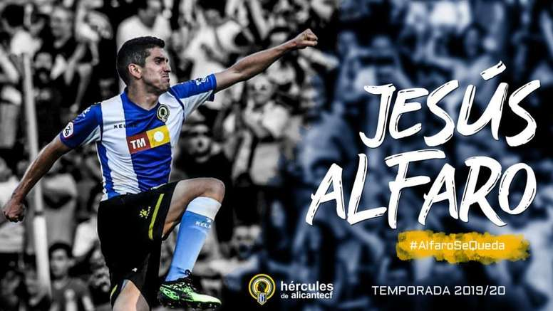 Jesús Alfaro firma con el Hércules hasta 2021. CFHércules