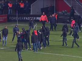 Jordan Larsson was attacked by Helsingborgs fans after the game. Youtube