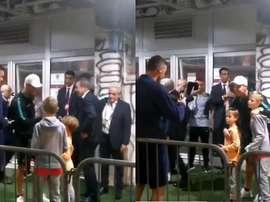 Le fils de Matic, fan de Cristiano Ronaldo. Capture/MONDOSPORT