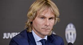 Nedved in conferenza stampa. Juventus