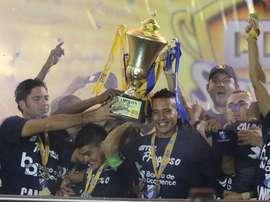 El Honduras Progreso festeja el título de campeón de Honduras. Twitter
