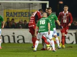 El Jonkopings Sodra en un partido de la Liga Sueca. JSodra