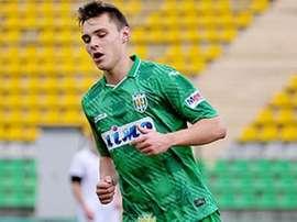 El joven centrocampista ucraniano Oleksiy Gutsulyak, del Karpaty Lviv. MARCA