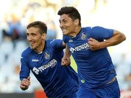Faurlín cree que no se debe descartar el ascenso directo del club azulón. GetafeCF
