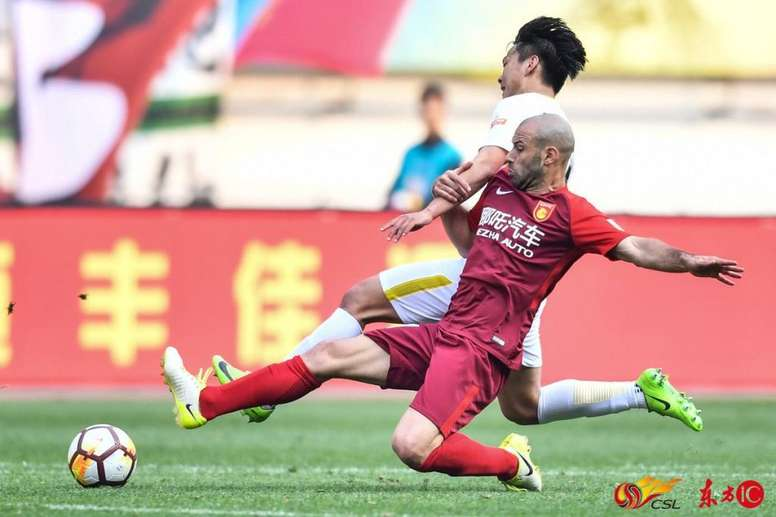 Javier Mascherano atua pelo Hebei Fortune, da China. CSL