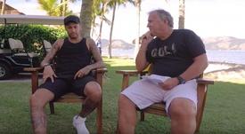 Zico le dejó un buen recado a Nemar. Captura/Youtube/CanalZIco10
