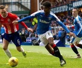 El jugador cedido por el Arsenal, quiere continuar una campaña más en el Rangers. RangersFC