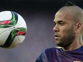 Daniel Alves explicou como viveu a partida entre Barcelona e Juventus. AFP
