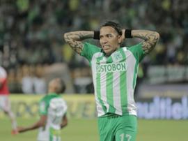 Dayro falló varias ocasiones claras de gol. AtléticoNacional