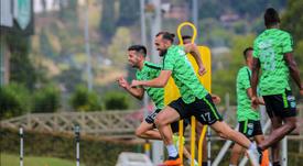 Hernán Barcos, duda ante Deportivo Cali. AtleticoNacional