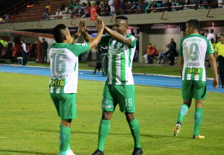 Helibelton Palacios anotó el único tanto del partido. AtleticoNacional