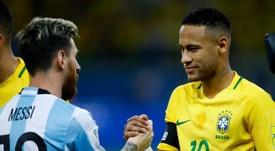 Neymar, ex-companheiro de Messi no Barcelona. EFE