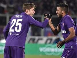 Fiorentina empatou o jogo com dez jogadores. EFE