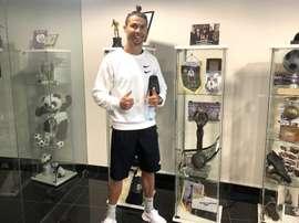 CR7 voltou ao Nacional, clube que pagou 22 bolas por sua contratação. CDNacional