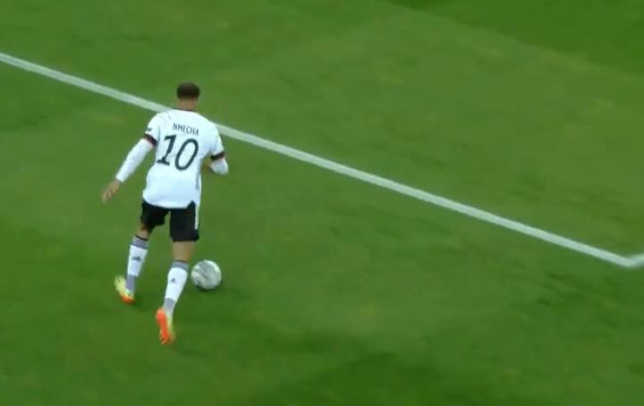 Lukas Nmecha, futbolista destacado de Alemania en el Europeo Sub 21. Captura/Cuatro