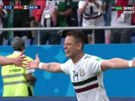 Hernandez scored Mexico's second. Captura