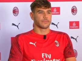 Theo quer conquistar grandes coisas no Milan. Captura/SkySport