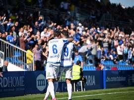 Tony Gabarre anotó el tanto de la victoria en el minuto 33. Twitter/CDAtléticoBaleares