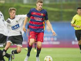 Gerard Gumbau será una de las bajas en el filial del Barça B. FCBarcelona