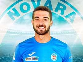 El jugador del Cagliari Paolo Faragó, cuando militaba en el Novara. NovaraCalcio