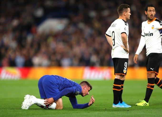 La blessure de Mount est sans gravité. Twitter/ChelseaFC_Sp