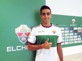 El jugador del Elche Niklos Vergos. Twitter